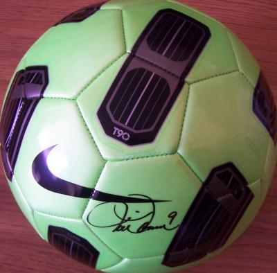 Mia Hamm autographed Nike size 5 soccer ball (Steiner)