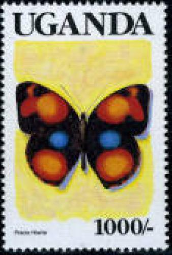 Butterfly 1v (black UGANDA); Year: 1990
