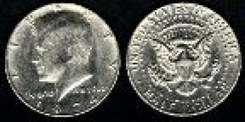 50 cents; Year: 1971; Kennedy copper-nickel