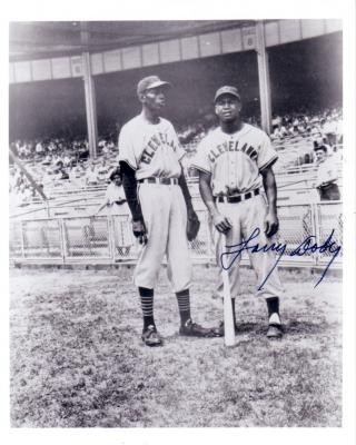 Larry Doby autographed Cleveland Indians 8x10 black &amp; white photo