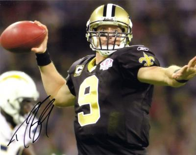 Drew Brees autographed New Orleans Saints 8x10 photo