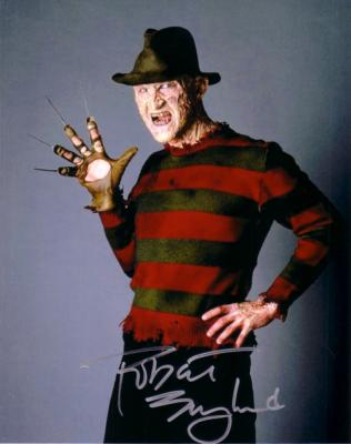 Robert Englund autographed 8x10 Freddy Krueger photo