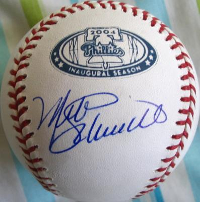 Mike Schmidt autographed Philadelphia Phillies 2004 Citizens Bank Park baseball