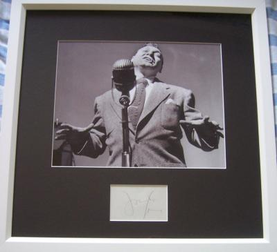 Frankie Laine autograph matted &amp; framed with vintage 8x10 photo