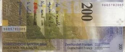 Banknotes; Switzerland_200 franken