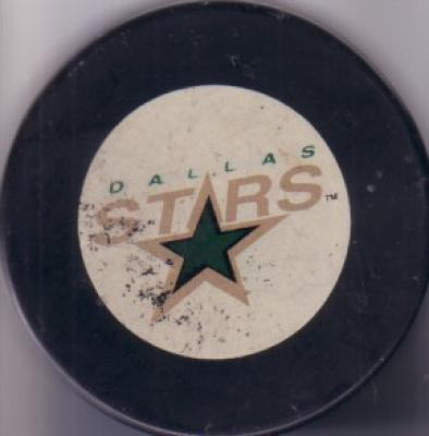 Dallas Stars logo puck