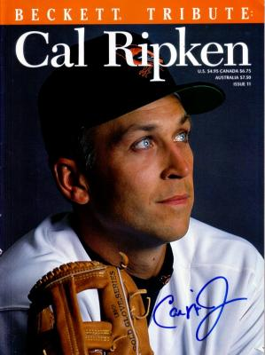 Cal Ripken autographed Baltimore Orioles Beckett Tribute magazine