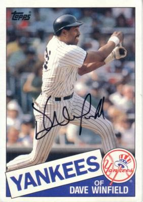 Dave Winfield autographed New York Yankees 1985 Topps 5x7 jumbo card