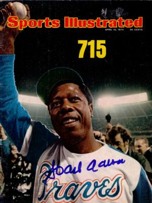 Hank Aaron autographed Atlanta Braves Home Run 715 Sports Illustrated