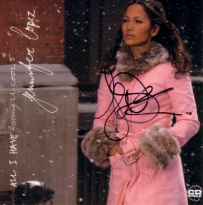 Jennifer Lopez autographed All I Have CD insert