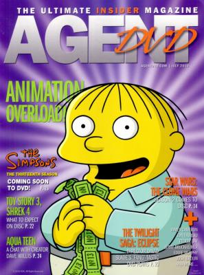 The Simpsons Ralph Wiggum July 2010 Agent DVD magazine