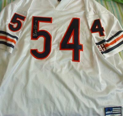 Brian Urlacher autographed Chicago Bears authentic Adidas jersey