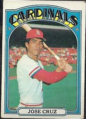 Jose Cruz 1972 Topps Rookie Card #107 VG condition
