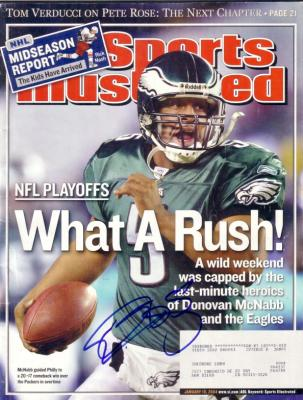 Donovan McNabb autographed Philadelphia Eagles 2004 Sports Illustrated
