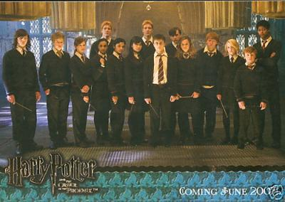 Harry Potter and the Order of the Phoenix promo card 01