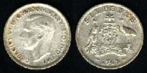 6 pence; Year: 1946-1948; (km 38a)