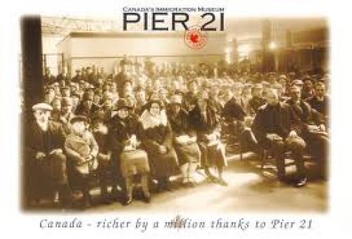 Postcard; Canada's Immigration Museum, Pier 21