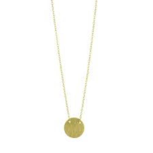 Delicate Circle Gold Necklace