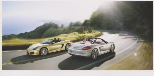 Porsche Boxster S postcard