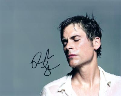 Rob Lowe autographed 8x10 sweaty photo
