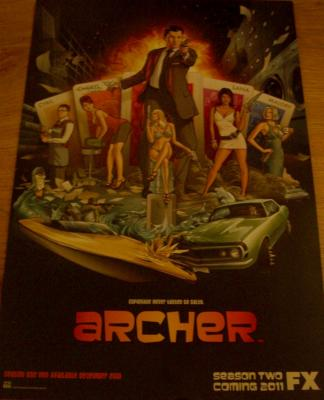 Archer 2010 Comic-Con FOX promo poster