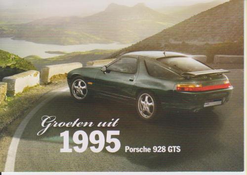 Porsche 928 GTS 1995 postcard