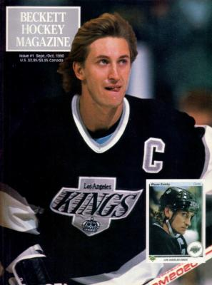 Wayne Gretzky Kings 1990 Beckett Hockey Magazine issue #1