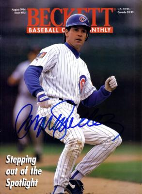 Ryne Sandberg autographed Chicago Cubs 1994 Beckett Baseball magazine cover