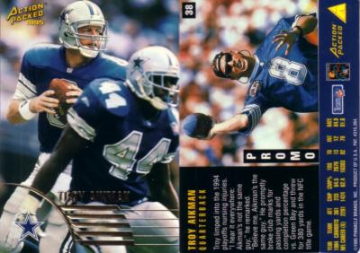 Troy Aikman 1995 Action Packed promo card
