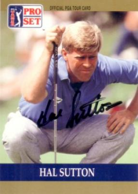 Hal Sutton autographed 1990 Pro Set golf card