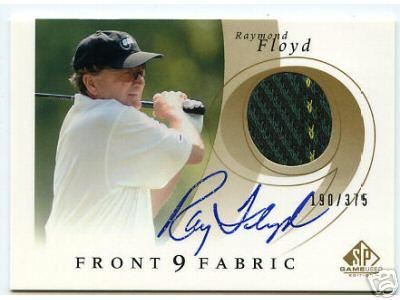 Raymond Floyd certified autograph 2002 SP golf card with game worn shirt swatch
