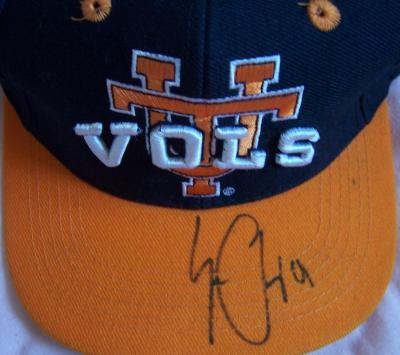 Erik Ainge autographed Tennessee cap