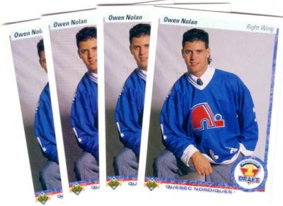 Owen Nolan lot of four 1990-91 Upper Deck Rookie Cards (#352) MINT