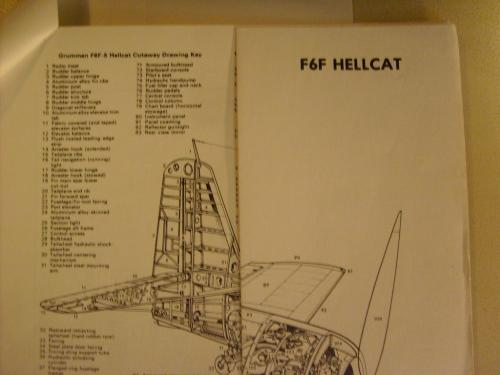 Grumman F6F Hellcat Drawings for model makers, aircraft re-builders.