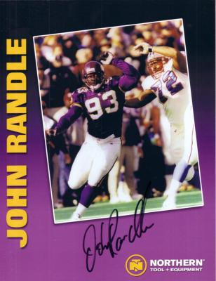John Randle autographed Minnesota Vikings photo