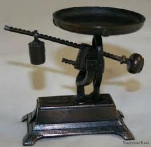 Antiques; 1970s Vintage cast metal Antique Scales miniature Pencil