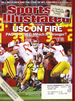 John David Booty autographed USC Trojans 2007 Sports Illustrated