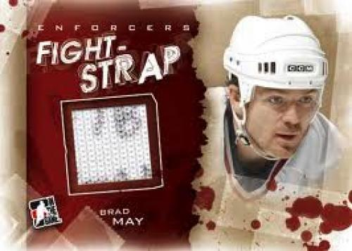 Bloodstained hockey cards celebrate NHL enforcers; Brad May