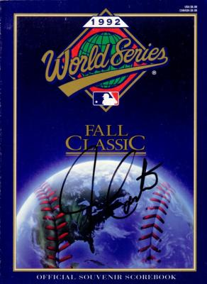 Joe Carter autographed 1992 World Series program