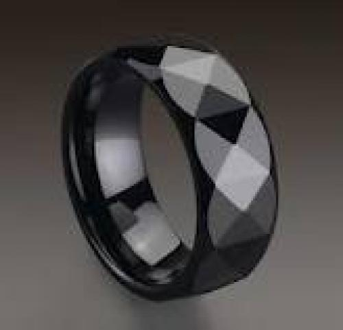 Jewelry; Ceramics Black Ring