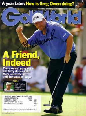 Mark Calcavecchia autographed 2007 Golf World magazine
