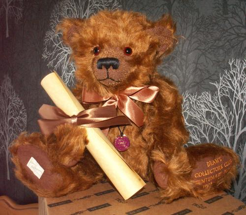 DEANS Collector's Club Centenary Mohair Bear