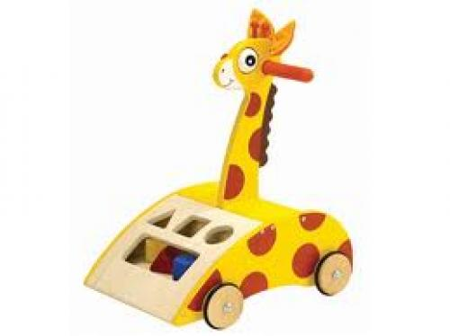 Toys Giraffe Wooden Walker