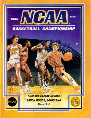Tom Hammonds (Georgia Tech) autographed 1986 NCAA Tournament program