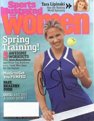 Anna Kournikova autographed Sports Illustrated for Women magazine