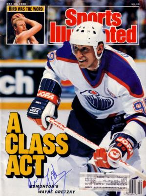 Wayne Gretzky autographed Edmonton Oilers 1988 Sports Illustrated