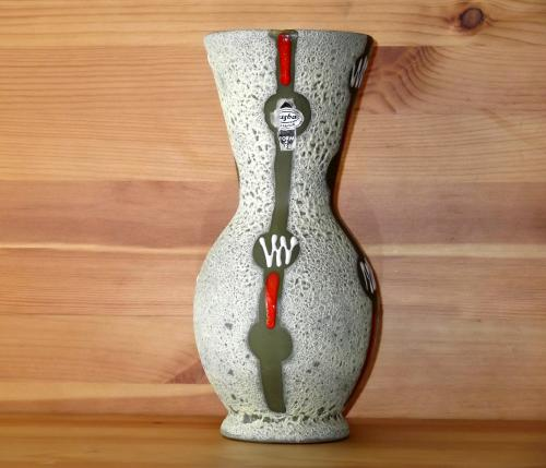 Jasba West German cantaloupe vase
