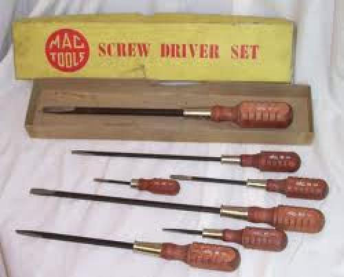 Antiques; Mac Tools Screwdriver Set in box from 1960s