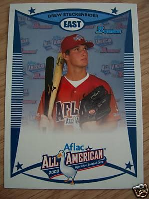 Drew Steckenrider 2008 AFLAC Bowman Rookie Card