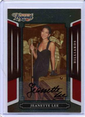 Jeanette Lee certified autograph Donruss Sports Legends billiards card